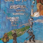 Silian Rail - each other release show flyer