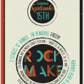 2012 Rock Make Street Festival - Vendor Announce Flyer