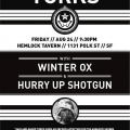 The Turks, Winter Ox, & Hurry Up Shotgun @ The Hemlock