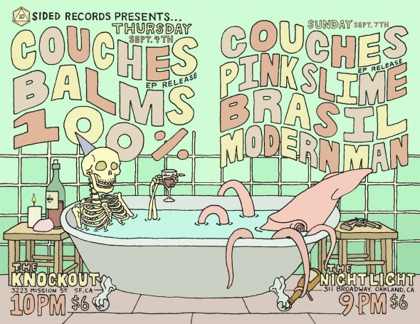 Premiere: Listen to Couches' new EP 'Slackin' Since The 80s' (and catch them at two Bay Area release shows)