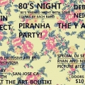 Art Boutiki 80s night