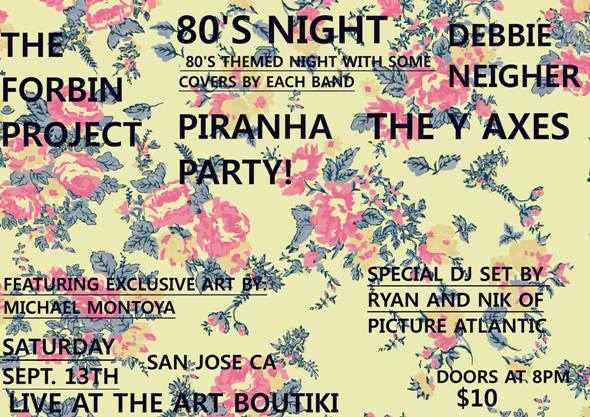 The Forbin Project, Debbie Neigher play Art Boutiki's '80s night