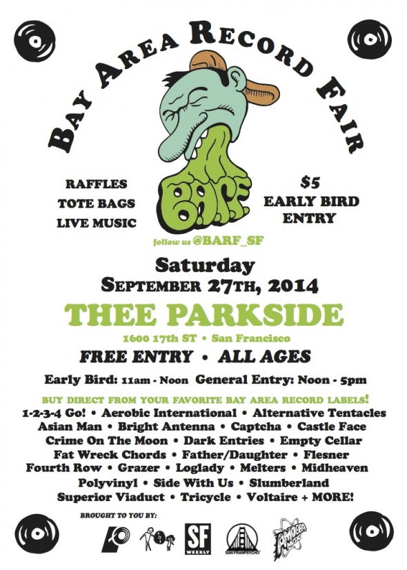 This Week in SF, 9/22-9/28/14: Bay Area Record Fair, Oakland Music Festival, Bob Mould, The Aislers Set