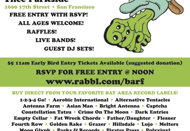 BARF is this Saturday at Thee Parkside!