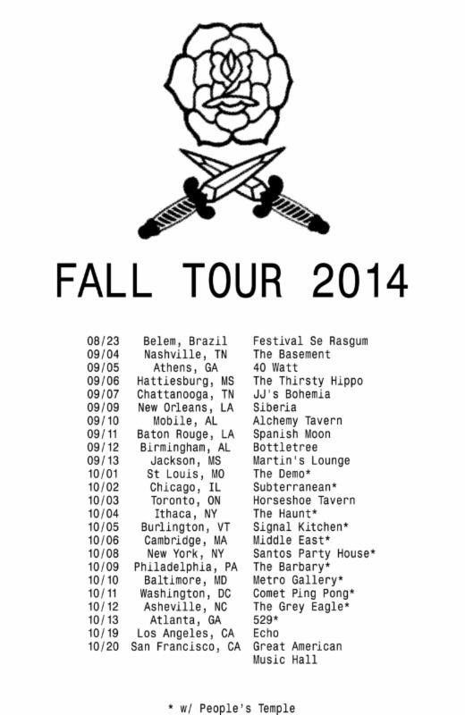 Bass Drum of Death Fall Tour 2014