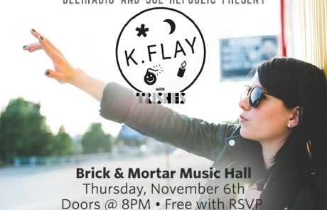 RSVP now: K.Flay is performing a free show in SF