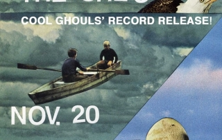 Cool Ghouls record release poster