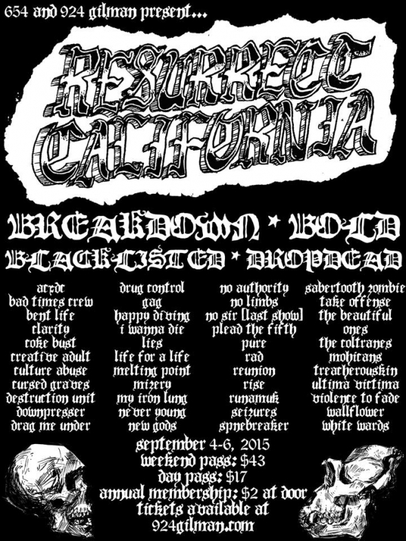 Hardcore punk festival 'Resurrect California' announces lineup