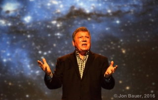 William Shatner at Nourse Theater, by Jon Bauer