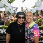Hoj and Lee Burridge at All Day I Dream in the Park 2016, by Darrin Harris Frisby