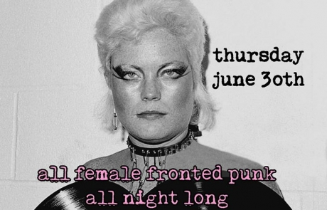 "Local DJs bring round two of ""Aural History of Femme Punk"" night to the Golden Bull"