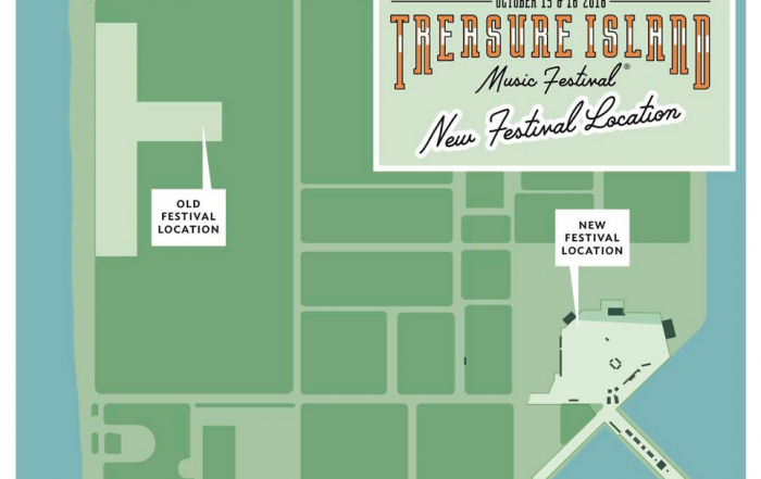 Treasure Island Music Festival 2016 moves to East side of island