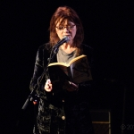 Sylvie Simmons at Leonard Cohen Tribute at The Chapel, by Jon Bauer