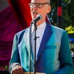 John Waters at Burger Boogaloo 2016, by Jon Ching
