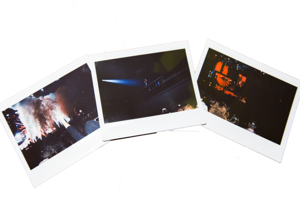 Polaroids of Twenty One Pilots at the San Jose SAP Center by Estefany Gonzalez