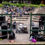 Crowd and Cinder Cone at PRF BBQ West 2017, by Patric Carver