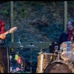 Mike Morasky of Steel Pole Bathtub and Noah Landis of Neurosis at PRF BBQ West 2017, by Patric Carver