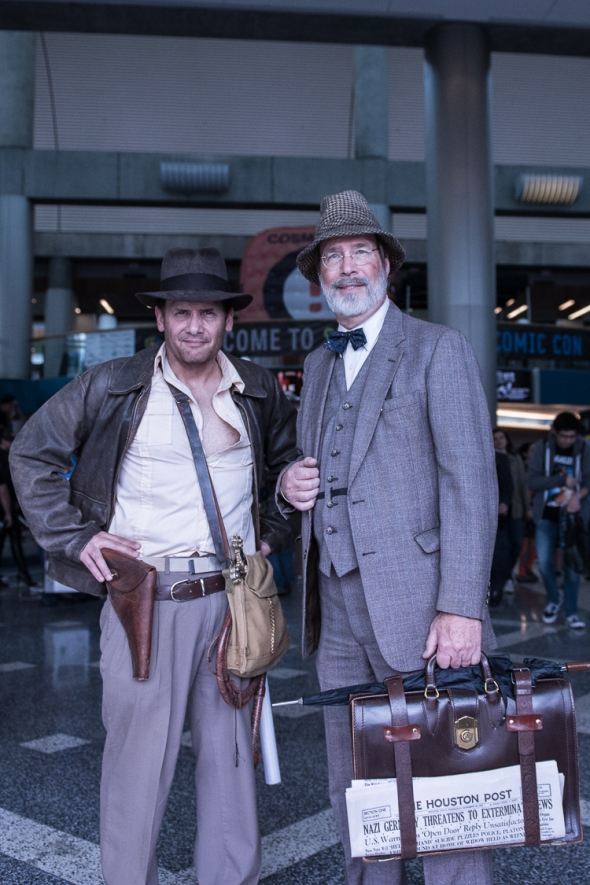 Indiana Jones & Henry Jones Sr. at Silicon Valley Comic Con 2017, by Robert Alleyne