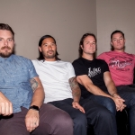 Thrice backstage at Concord Pavilion, by Estefany Gonzalez