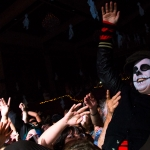 Billie Joe Armstrong crowd surfs at Uncool Halloween at UC Theatre in Berkeley