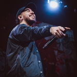 Mike Shinoda at Not So Silent Night 2018, by Norm deVeyra