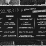 Lineup at The SoundFest 2019. by William Wayland