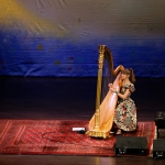 Joanna Newsom at the Herbst Theatre, by Jon Bauer