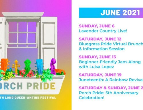 Bluegrass Pride announces 2021 Porch Pride festival lineup